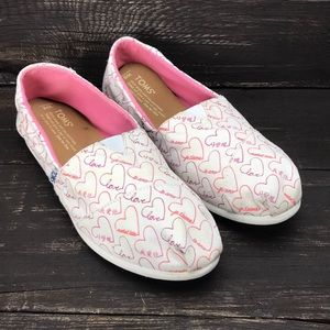 """Toms """"Love"""" Flats Size 8"""
